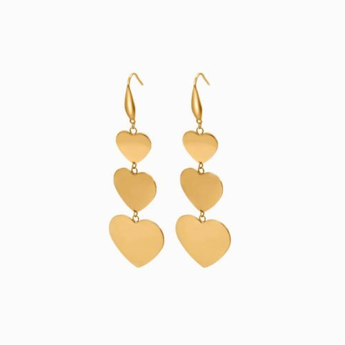 gold stainless steel earrings factory